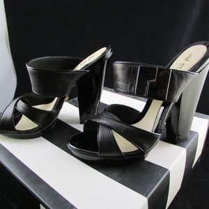 Size 7.5 L.A.M.B. Black Sandals